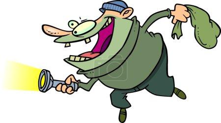 Illustration for Cartoon Burglar - Royalty Free Image