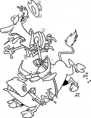 Cartoon Bull Rider