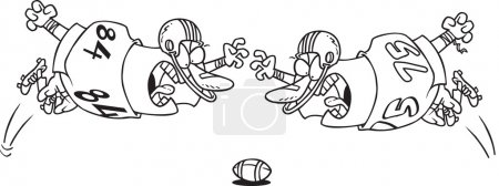 Cartoon Football Fumble