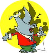Cartoon Singing Rhino