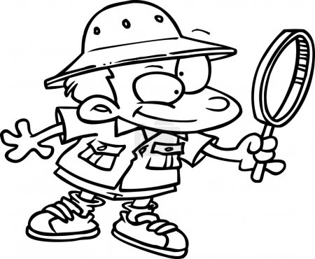 Cartoon Young Archaeologist