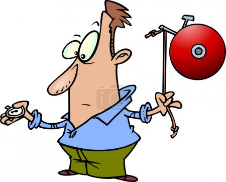 Cartoon Boxing Bell