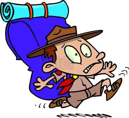 Cartoon boy scout