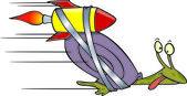 Cartoon Express Snail Mail