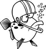Cartoon Football Fish