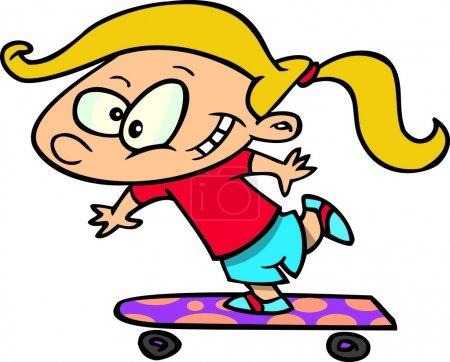 Cartoon Girl Skateboard