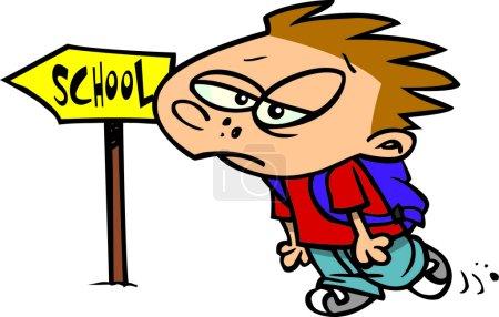 Cartoon Boy Back to School
