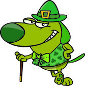 Cartoon St Patrick's Day Dog