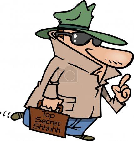 Cartoon Top Secret Agent