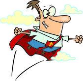 Cartoon Super Businessman