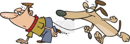 Cartoon Dog Walker