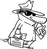 Cartoon Top Secret Agent