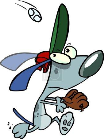 Cartoon Baseball Dog