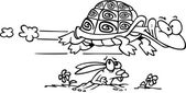 Cartoon Tortoise and Hare