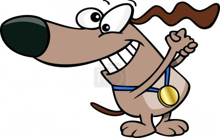Cartoon Dog Champion