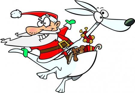 Cartoon Santa Kangaroo