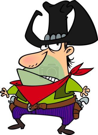 Cartoon Cowboy Villain