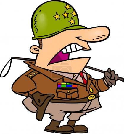 Cartoon Army General