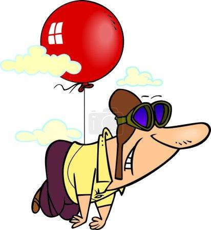 Cartoon Balloon Pilot