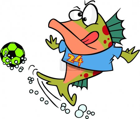 Cartoon Soccer Fish