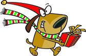 Cartoon Christmas Elf Dog