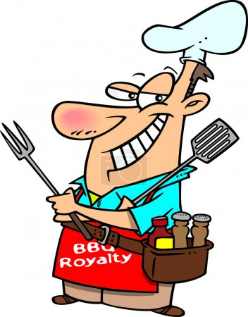 Cartoon Barbecue King