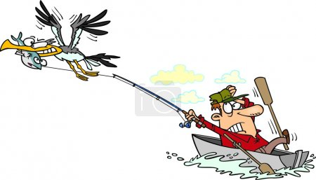 Cartoon Fisherman...