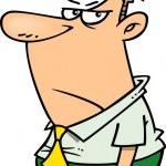 Cartoon Grumpy Man...