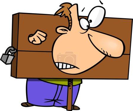 Illustration pour Dessin animé Homme en stock - image libre de droit