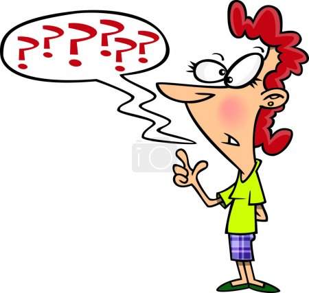 Cartoon Questioning Woman