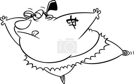 Cartoon Sumo Ballerina