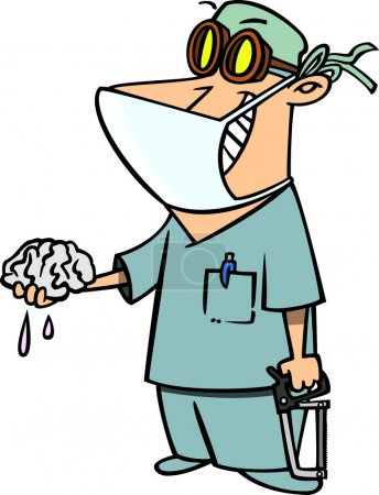 Cartoon Brain Surgeon
