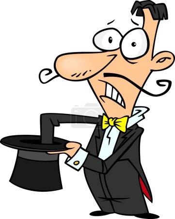 Illustration pour Dessin animé Bad Magician - image libre de droit