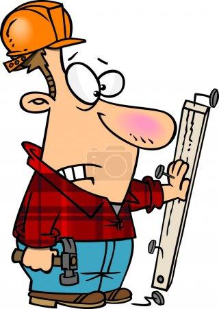Illustration pour Accident de construction de bande dessinée - image libre de droit