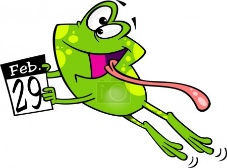 Cartoon Leap Day Frog