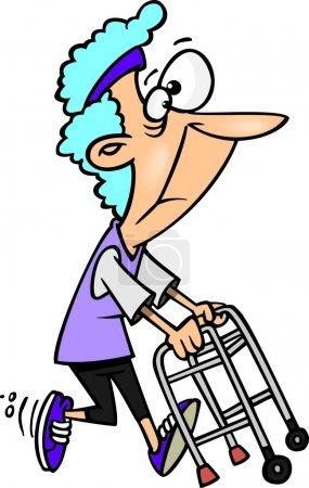 Cartoon Granny Walker