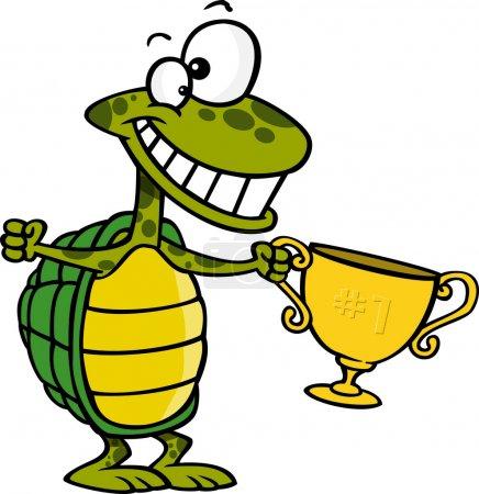 Cartoon Turtle Champion