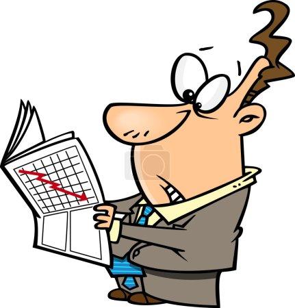 Illustration pour Crash du marché boursier de la bande dessinée - image libre de droit