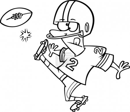 Cartoon Football Kicker