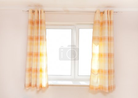 Kitchen curtain with a copy-space in the middle