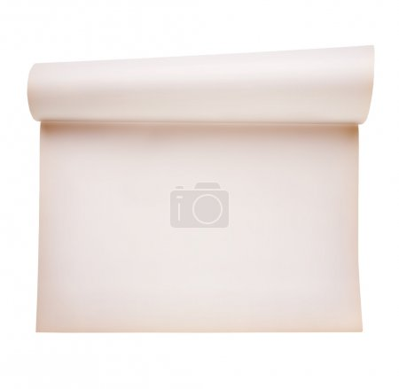 Scroll paper, smooth paper