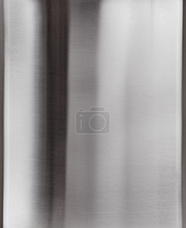 Shiny brushed metal plate surface