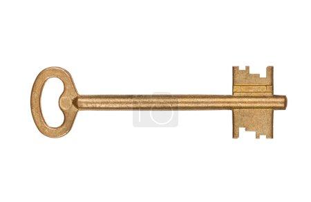 Door key isolated on white