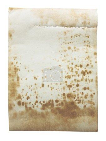 vieux papier texture, isolée sur blanc