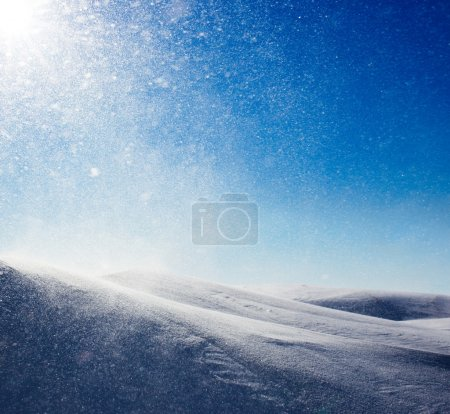 Winter background, snowstorm