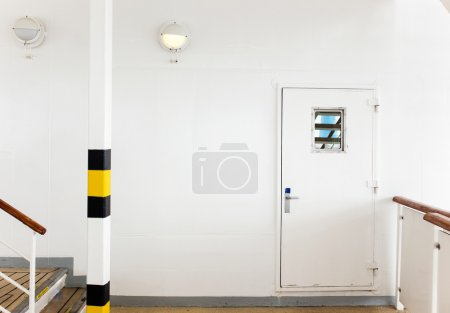 White wall with door background