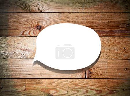 Photo pour Bulle de papier sur les bois fond grunge - image libre de droit