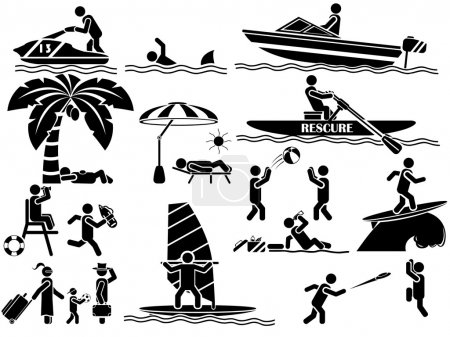 Illustration for ICON MAN SUMMER - Royalty Free Image