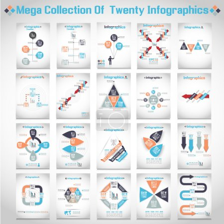 Illustration for MEGA COLLECTIONS OF TEN MODERN ORIGAMI BUSINESS STEB STYLE OPTIONS BANNER 3 - Royalty Free Image
