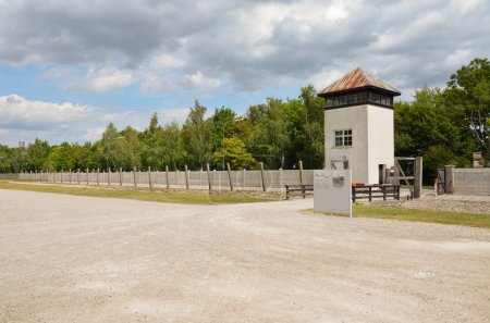 View of the tower and the electric fence system...